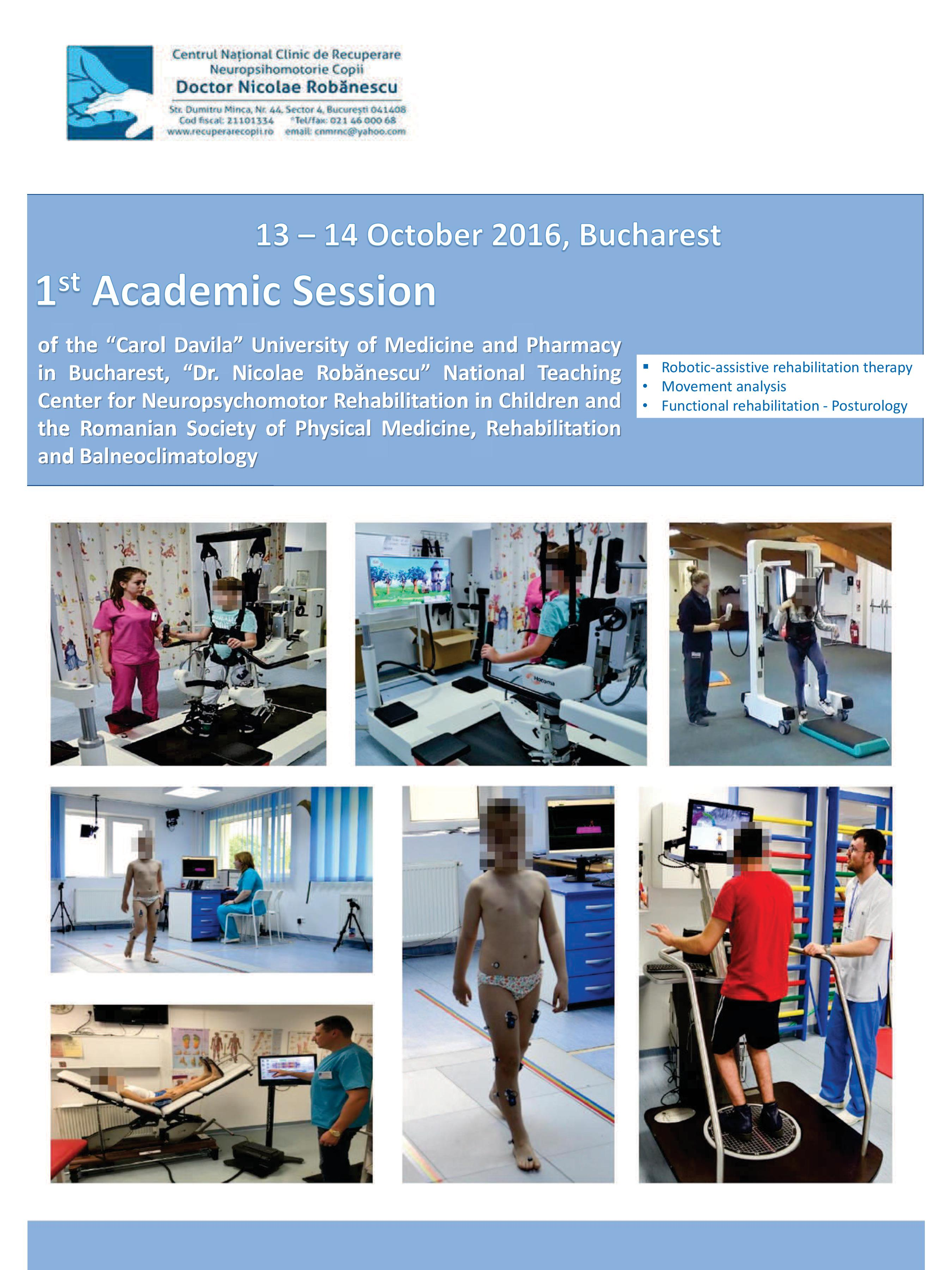ADVANCED NEUROREHABILITATION PROCEDURES - 1st ACADEMIC SESSION 13-14 October 2016, Bucharest pg1/4